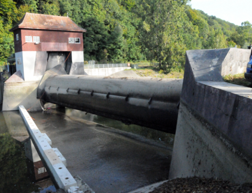 Measuring penstock + turbines